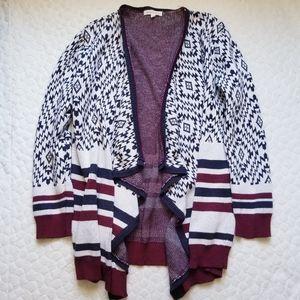 Stitch Fix Honey Punch cardigan sweater aztec